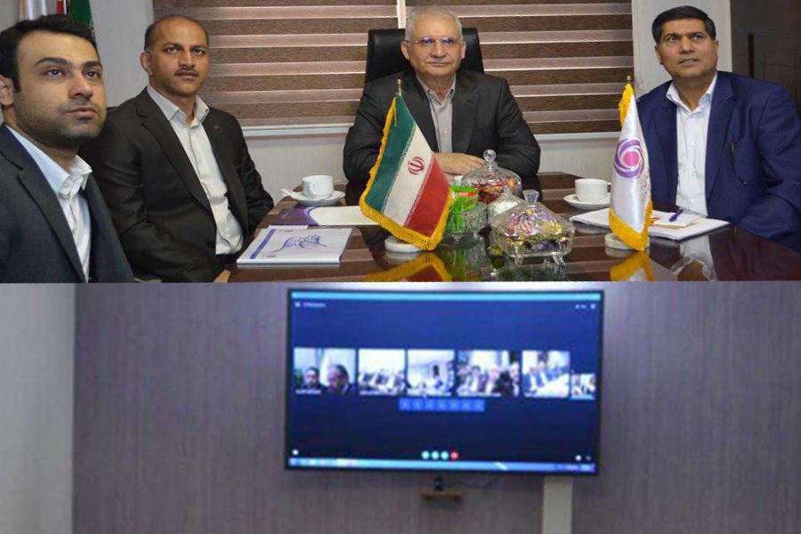 برگزاری جلسه ویدئو کنفرانس مدیرعامل بانک ایرانزمین با مدیران استانی