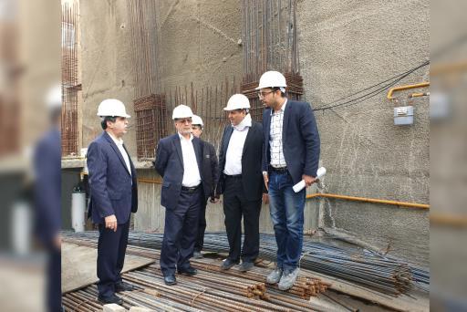 افتتاح پروژه در حال احداث ساختمان مرکزی بیمه کوثر